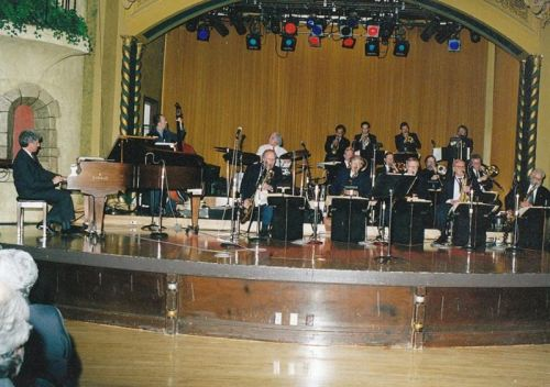 Blue Wisp Big Band Performing on Stage