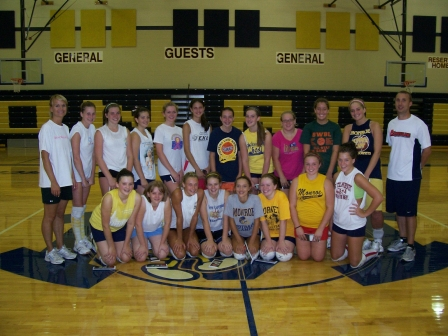Monroe Volleyball Camp with UD 2008