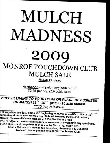 Monroe Touchdown Club Mulch Sale 2009