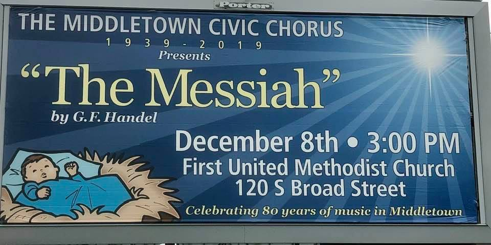 Middletown Civic Chorus Handel's The Messiah Billboard